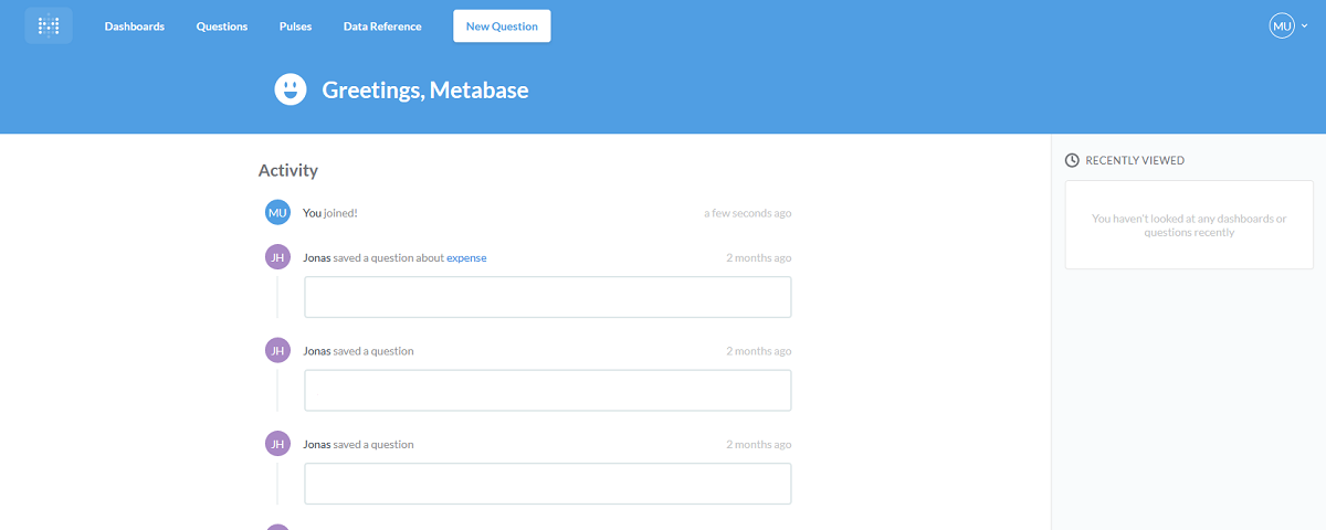 Metabase | Create your own Reports | Jonas Hellmann Blog